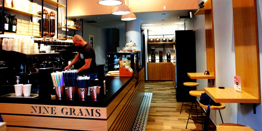 NINE GRAMS, franchise take away 3d wave coffee shop